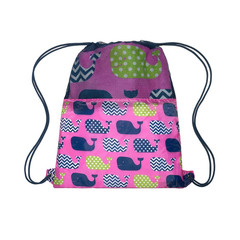 3c4g Whales Towel With Sling Bag