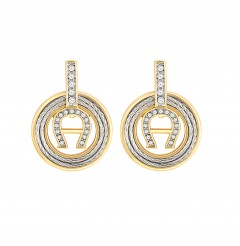 Aigner   Earring Silv/Gld/Sto Aj84024