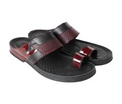 Amwaj Men's Red Sandals 40