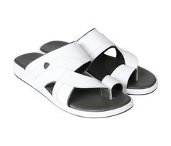Amwaj Men's White Sandals 40