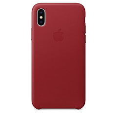 APPLE iPhone X Leather Case RED MQTE2