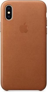 APPLE iPhone X Leather Case SADDLE BROWN MQTA2