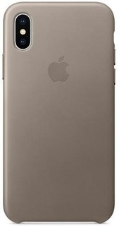 APPLE iPhone X Leather Case TAUPE MQT92