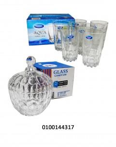 Aqua Tumbler + Candy Jar