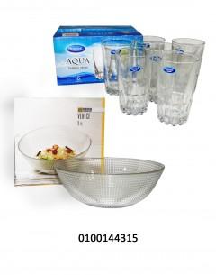 Aqua Tumbler + Venice Bowl