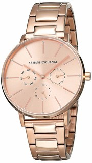 Armani Exchange Women's Rose Gold Bracelet Watch