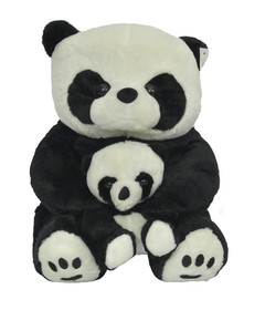 Baby And Mother Panda Bear Soft Toy