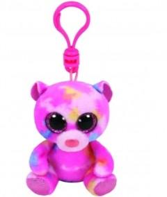 Beanie Boos Bear Franky Pink Clip 3In
