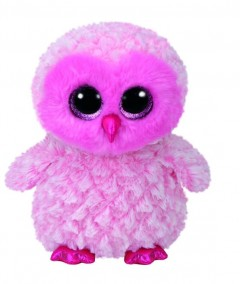 Beanie Boos Owl Twiggy Pink Med 9In