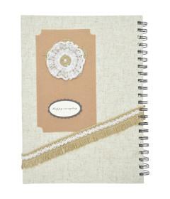 Beige Note book w/Spiral A4