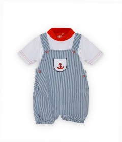 Blue Shirt and shorts for boys -6 months
