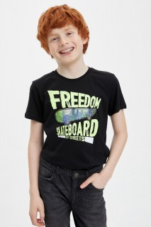 Boy's Hologram Printed Short Sleeve T-shirt 8698335500658 3-4yrs
