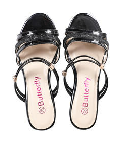 BUTTERFLY Girls Black Sandals -28