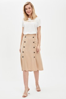 Button Detailed Woven Skirt 8682446149059  34