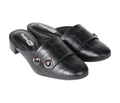 COMFORTFLEX Black Women Heels -  36