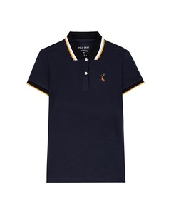 Deer Embroidery Polo Women's M