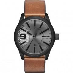 Diesel Mens Rasp Brown Leather Quartz Fashion Watch
