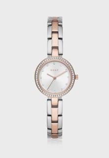 DKNY  Lady Silver with Rose Gold  Brac  NY2827