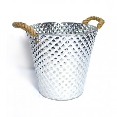 Easy Life Metal Bucket Ss 25X24Cm Silver