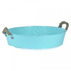 Easy Life Metal Bucket Ss 40X9Cm Blue