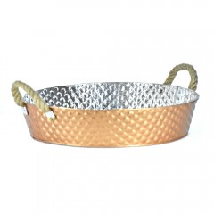 Easy Life Metal Bucket Ss 40X9Cm Gold