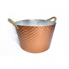 Easy Life Metal Bucket Ss Large 40Cm Gold