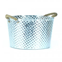 Easy Life Metal Bucket Ss Large 40Cm Silver