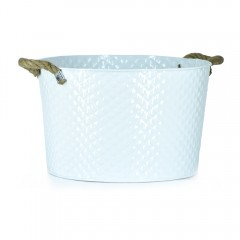 Easy Life Metal Bucket Ss Large 40Cm White