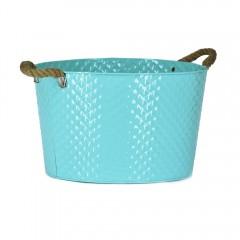 Easy Life Metal Bucket Ss Small 35Cm Blue