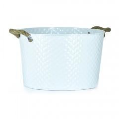 Easy Life Metal Bucket Ss Small 35Cm White