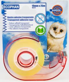 Eurocel Transparent Tape W/Dispenser 19Mmx25M