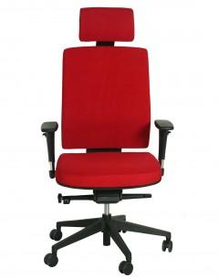 Fahmy High Back With Headrest-Fabric Seat And Back-Adj Armrest-Aluminium Base