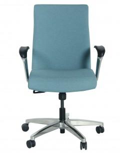 Fahmy Medium Back - Fabric Back And Seat-Looped Arm Rest-Aluminium Base