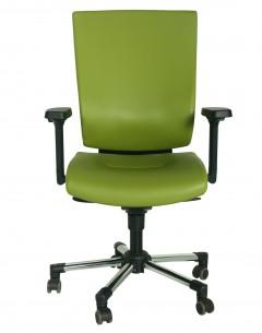 Fahmy Medium Back-Full Leather Back And Seat- Aluminium Base-