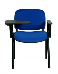 Fahmy Study Chair-Blue Fabric  Seat And Back