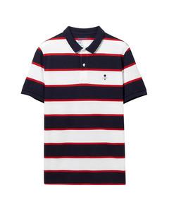 Giordano Classic Embroidered Stripe Polo S