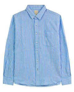 Giordano  Men' s  Linen  Long-Sleeve  Shirt S