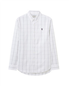 Giordano  Men' s Oxford  Shirt with  Small  Lion E Mbroidery M