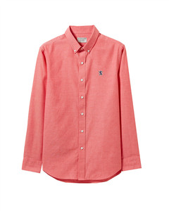 Giordano  Men' s Oxford  Shirt with  Small  Lion E Mbroidery S