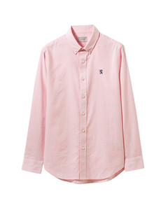 Giordano  Men' s Oxford  Shirt with  Small  Lion E Mbroidery XL
