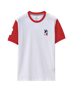Giordano Men's Contrast Color Embroidered Tee XXL