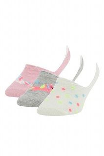 Girl Low Cut Socks NEON PINK 29-34