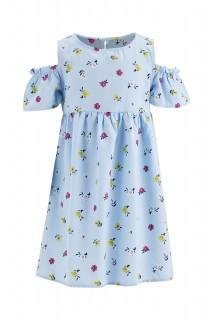 Girl Woven Dress LT.BLUE 3-4