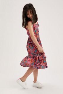 Girl Woven Dress LT.CORAL 4-5