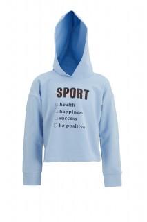 Girl's Sweat Shirt BLUE 5/6