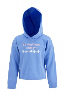 Girl's Sweat Shirt BLUE 6/7