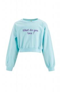 Girl's Sweat Shirt LT.BLUE 4/5