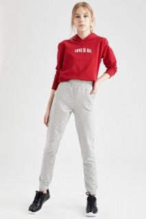 Girl's Trousers LT.GREY MELANGE  4/5