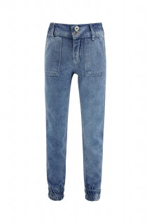 Girl's Trousers MID BLUE  6/7