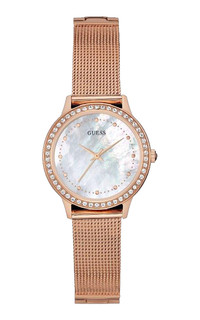 Guess Analog Mother Of Pearl Dial Women'S Watch - W0647L2